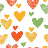 Seamless abstract pattern colored hearts Royalty Free Stock Image