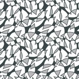 Seamless abstract pattern with colorful petals. Vector illustration with leaves. Abstract water texture stock illustration