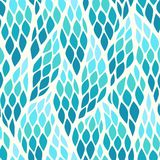 Seamless abstract pattern with colorful rhombuses. Vector illustration with leaves Vector Illustration