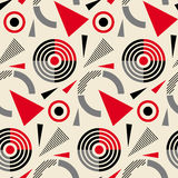 Seamless abstract pattern in constructivism soviet style. Vector vintage 20s geometric ornament.  Royalty Free Stock Photography