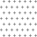 Seamless abstract pattern created from repetition of plus sign symbols. Seamless abstract pattern created from repetition of plus sign stock illustration