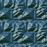 Seamless abstract pattern of 3d blocks Royalty Free Stock Photography