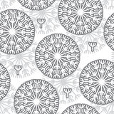 Seamless abstract pattern dandelions. Vector seamless abstract pattern dandelions vector illustration