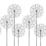 Seamless abstract pattern dandelions. Vector seamless abstract pattern dandelions stock illustration