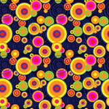 Seamless abstract pattern with different concentric circles Royalty Free Stock Image