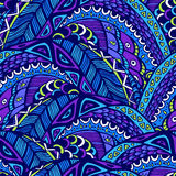 Seamless abstract pattern in doodle style Royalty Free Stock Photography
