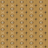Seamless abstract pattern eye tile with brown background Stock Image