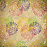 Seamless abstract pattern of faded paper with mesh balls Royalty Free Stock Photos