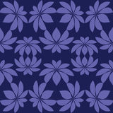 Seamless abstract pattern with floral elements Royalty Free Stock Image