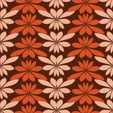 Seamless abstract pattern with floral elements Stock Image