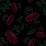 Seamless abstract pattern with flowers ornament  on black background. Seamless abstract pattern with flowers ornament stylish texture on black background Stock Photos