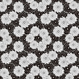 Seamless abstract pattern with flowers ornament  on  black background. Seamless abstract pattern with flowers ornament stylish texture on  black background Stock Photography