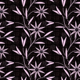 Seamless abstract pattern with flowers  ornament  texture  background. Seamless abstract pattern with flowers ornament stylish texture on black background Royalty Free Stock Images