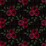 Seamless abstract pattern with flowers  ornament  texture  background. Seamless abstract pattern with flowers ornament stylish texture on black background Royalty Free Stock Photo