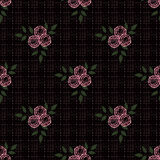 Seamless abstract pattern with flowers  ornament  texture  background. Seamless abstract pattern with flowers ornament stylish texture on black background Stock Image