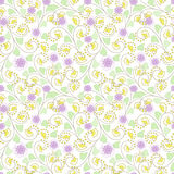 Seamless abstract pattern with flowers  ornament  texture  background Royalty Free Stock Photos
