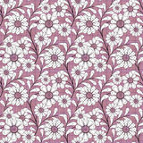 Seamless abstract pattern with flowers  ornament texture on pink background Royalty Free Stock Photos