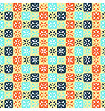 Seamless abstract pattern with flowers Stock Images