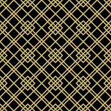 Seamless Abstract Pattern. Geometric abstract background with rhomuses and diagonal lines. Seamless modern pattern. Black and golden pattern Royalty Free Stock Images