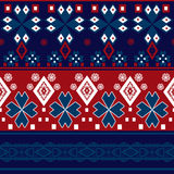Seamless abstract pattern with geometric elements Stock Images