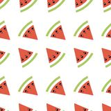 Seamless abstract pattern geometric illustration with melons, summer wallpaper  for textile printing or background, banner vector illustration