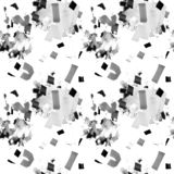 Seamless abstract pattern with geometric shapes. Hand drawn illustration. stock illustration