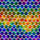 Seamless abstract pattern of geometrical shapes Royalty Free Stock Image