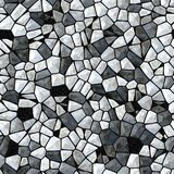Seamless abstract pattern of gray stones and diamonds. Glass crystals as background. Royalty Free Stock Images