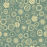 Seamless abstract pattern on a green background. For textiles, interior design, for book design, website background Royalty Free Stock Images