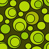 Seamless abstract pattern with green circles ornamental elements. Print background stock illustration