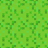 Seamless abstract pattern with green crosses on light background. Vector illustration. Royalty Free Stock Image