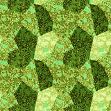 Seamless abstract pattern with green and gold marble structure Royalty Free Stock Photos