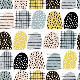 Seamless abstract pattern with hand drawn elements. Vector trendy texture. Seamless abstract pattern with hand drawn elements. Vector trendy texture Royalty Free Stock Images