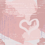 Seamless abstract pattern with heart Royalty Free Stock Photos