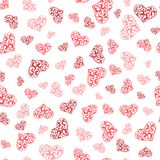 Abstract lace hearts seamless pattern vector illustration
