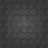 Seamless Abstract Pattern With Hexagons. Geometric fine abstract hexagonal dark background. Geometric modern ornament. Seamless modern pattern Royalty Free Stock Images