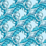 Seamless abstract pattern - ice Stock Photography