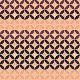 Seamless abstract pattern from intersecting circles. Beige, burg. Undy. Background of repeating geometric shapes vector illustration