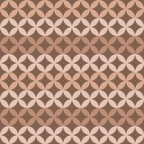 Seamless abstract pattern from intersecting circles. Coffee colo. Rs. Beige, brown.Background of repeating geometric shapes vector illustration