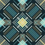 Seamless abstract pattern of intersecting and parallel lines Stock Photos