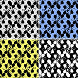 Seamless abstract Pattern with irregular Shapes in four variants Royalty Free Stock Photography