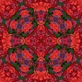 Seamless abstract pattern kaleidoscopic mosaic ornamental print. Background stock illustration