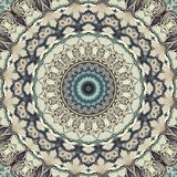 Seamless abstract pattern kaleidoscopic mosaic. Ornamental print background stock illustration