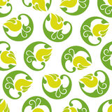 Seamless abstract pattern light green flowers on a white backgro. Und.vector illustration Stock Photography