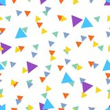 Seamless Abstract pattern made of colorful triangles stock images