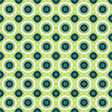 Seamless abstract pattern made by green and blue circles Stock Photos