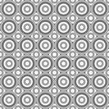 Seamless abstract pattern made by grey circles Stock Photography