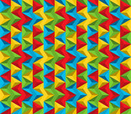 Seamless abstract pattern made of triangles in vivid colors Stock Photo