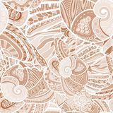 Seamless Abstract Pattern with marine inhabitants. Seamless Abstract Pattern can be used as wallpaper or greeting card, site background and other stock illustration