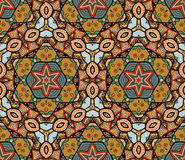 Seamless Abstract Pattern with marine inhabitants Stock Images